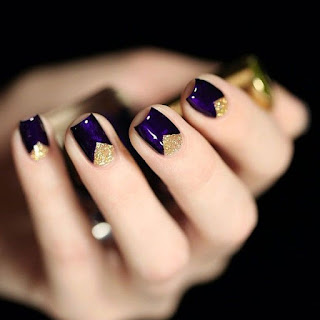 Inspiration violet et or triangle Pinterest