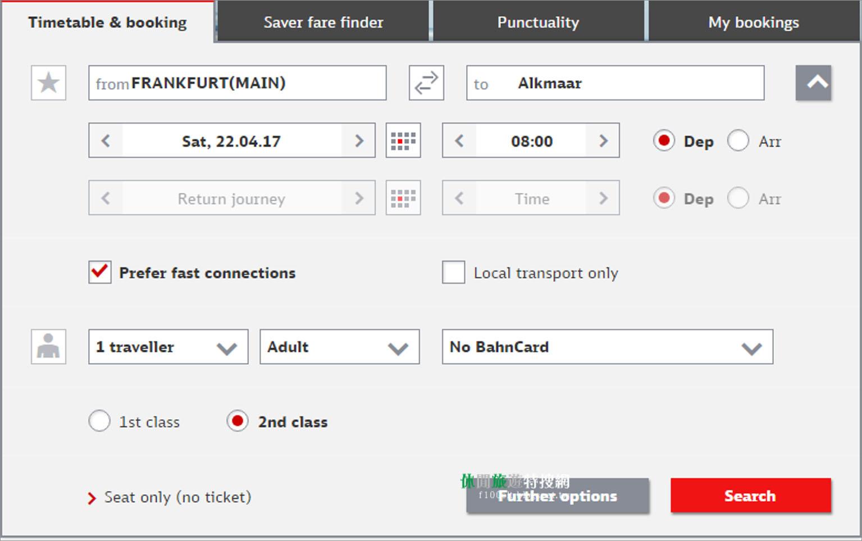 從德國法蘭克福到荷蘭Alkmaar 29歐元的超值跨國火車票