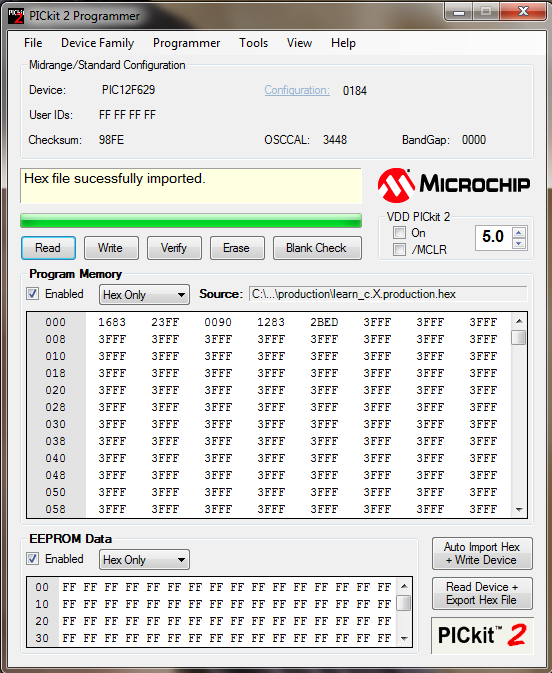 PIC Programming Lessons: Introduction to MPLAB X, First Project