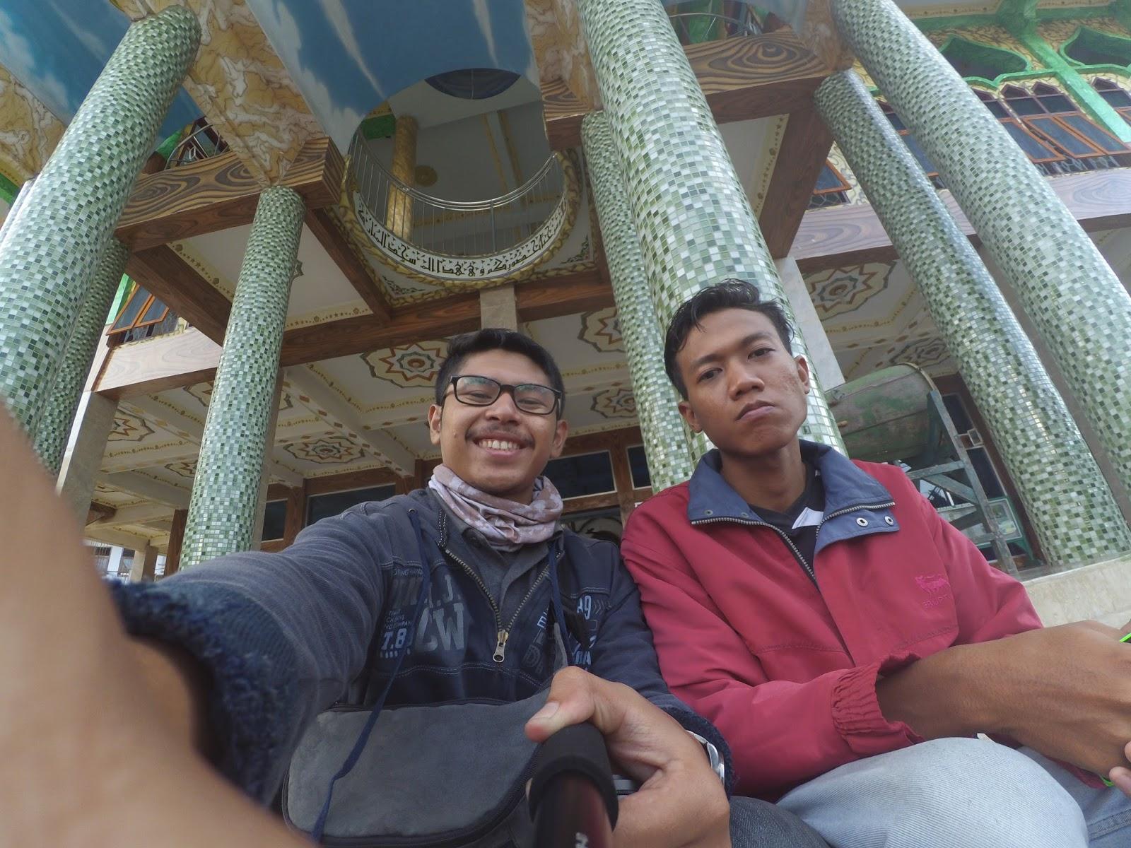 Selfie sama Liba Masjid Besar Gilimanuk Bali