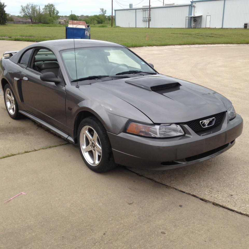 Picked up this 03 gt on facebook has a locked up motor plan on doing a motor swap swapping the cobra front bumper off and getting a gt hood back on it new