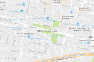 Ubicación en el mapa del Museo Carlos Cruz Diez