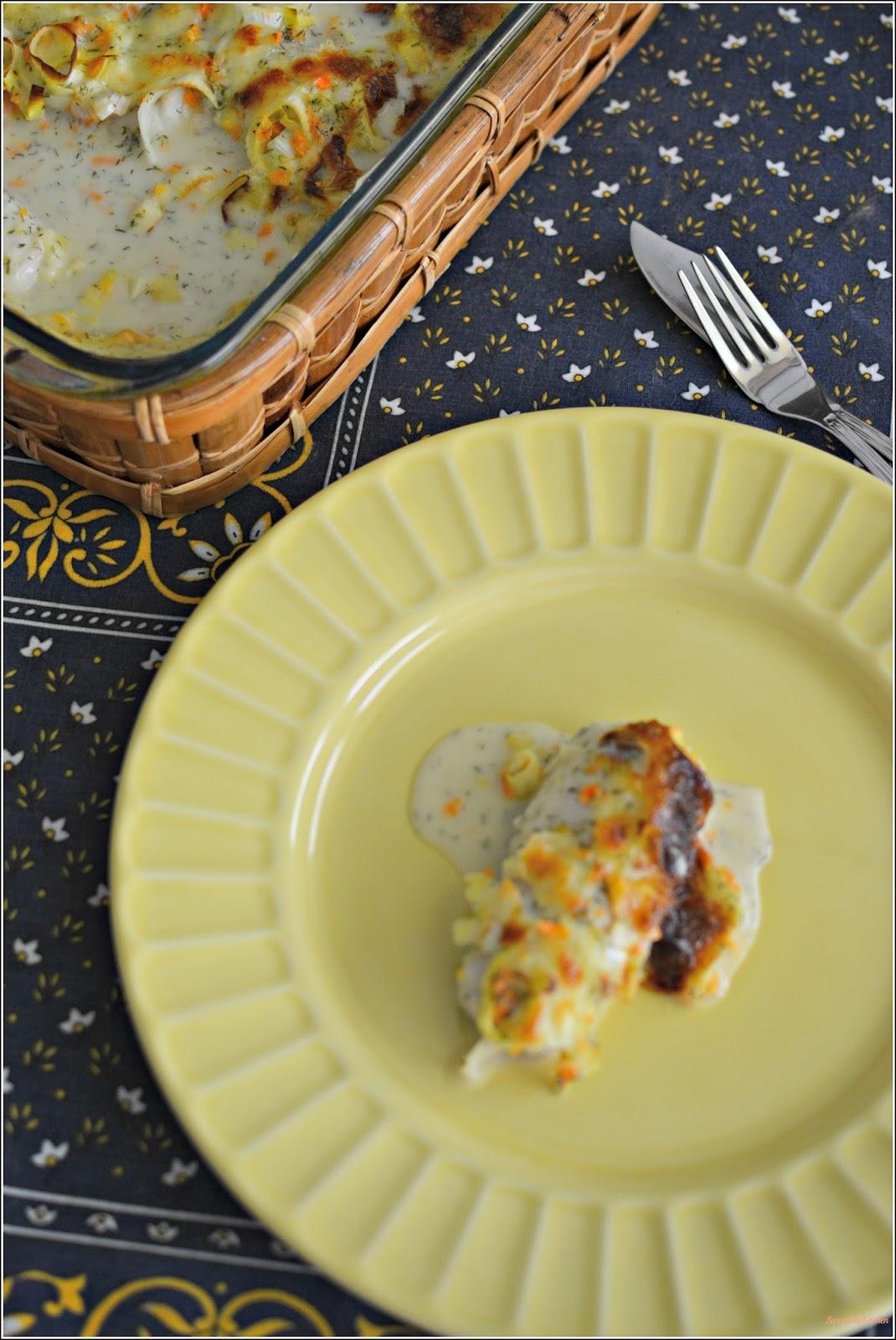 Sweet my Kitchen: Pescada gratinada com legumes