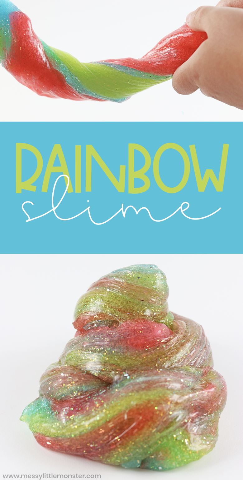 Rainbow slime recipe. This easy slime is made using just 3 ingredients and the perfect slime for beginners. Just follow our 'make your own slime' directions.