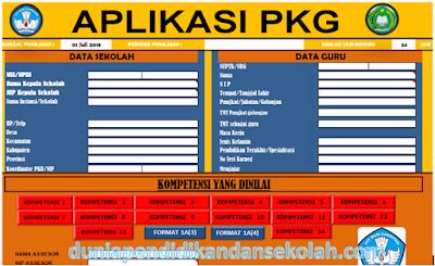 Aplikasi Penilaian Kinerja Guru (PKG) Format EXCEL Semua Jenjang Sekolah Kemendikbud dan Kemenag
