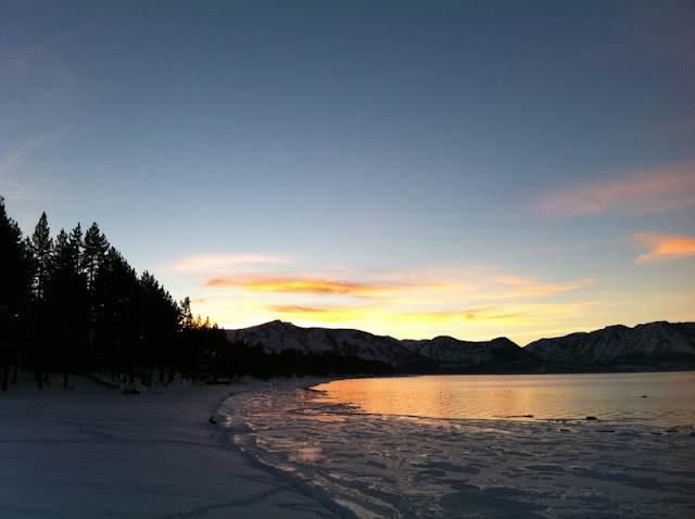 Beautiful Sunrise from Above at Lake Tahoe