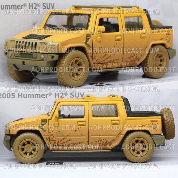 Miniatur Hummer H2 SUT Dirt (Yellow-32K)