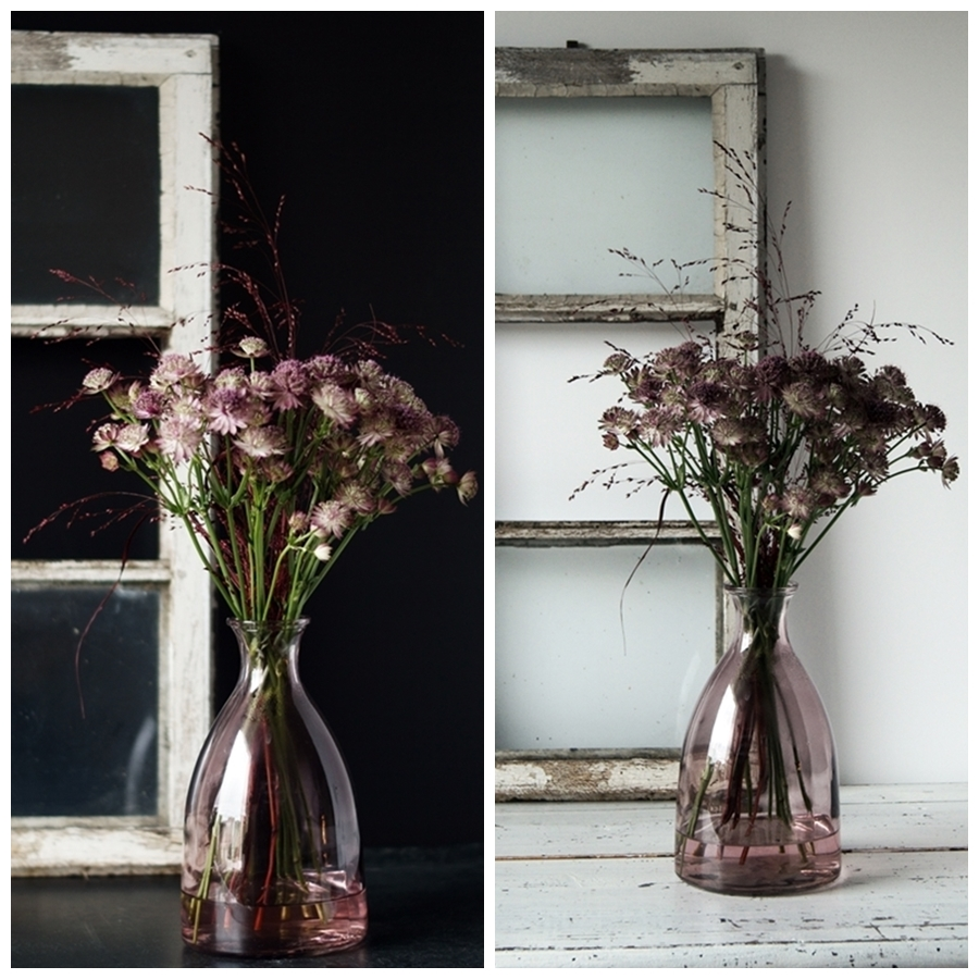 Blog + Fotografie by it's me! - Sterndolde Astrantia, alter Fensterrahmen