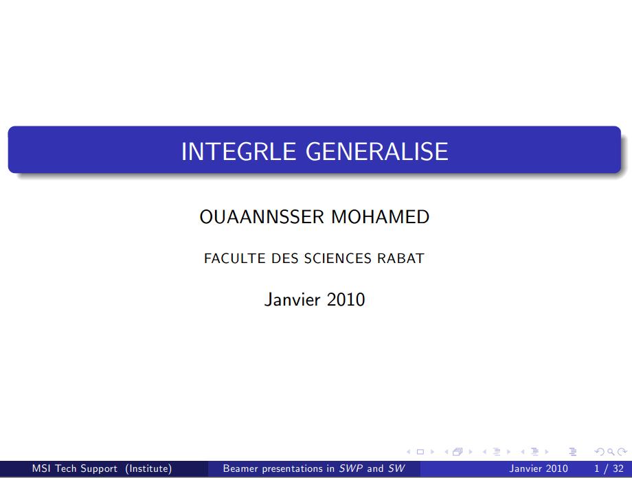 Les Intégrales généralisées s2