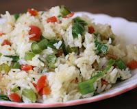 Arroz Rápido com Cenoura, Vagem e Pimentão (vegana)