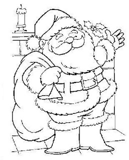 Desenhos De Papai Noel Para Colorir Grande