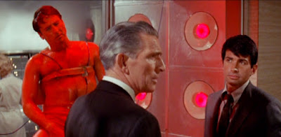 Michael Rennie and George Hamilton in The Power (1968)