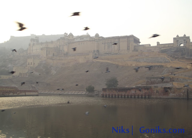 amber fort in evening