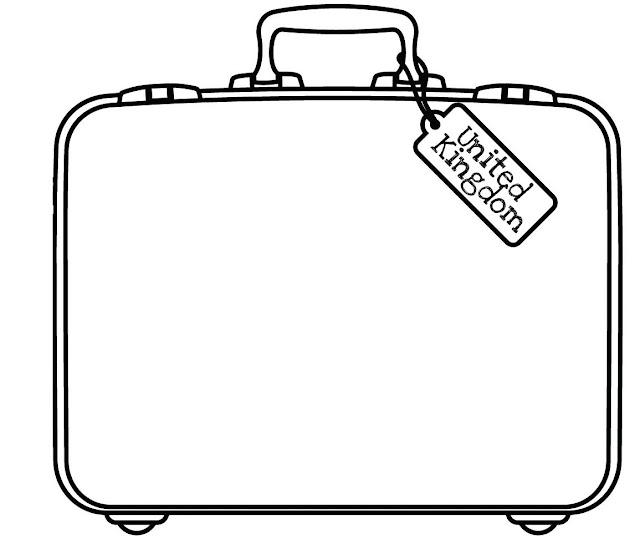 dibujo de maletas de viaje para colorear