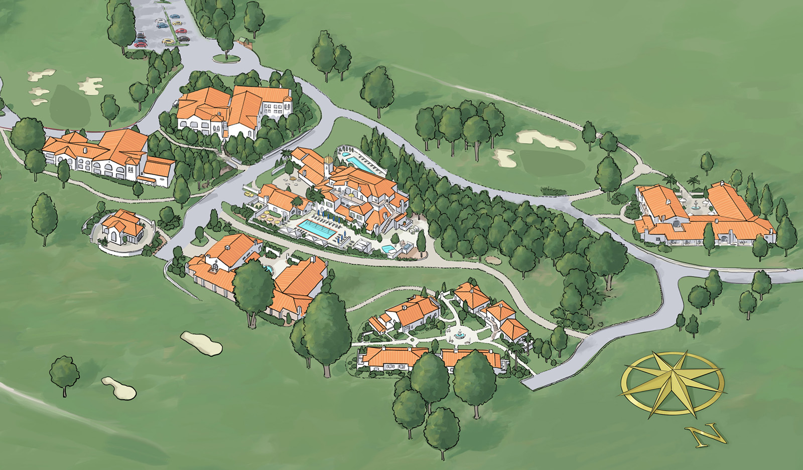 Ojai Valley Inn Rooms Suites: Isometric Map For Ojai Valley Inn And Spa (2015