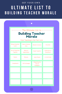 Get your own ultimate list to building teacher morale