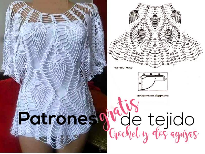 1b609057a Cómo tejer la blusa blanca de piñas a crochet / tutorial | Crochet y ...