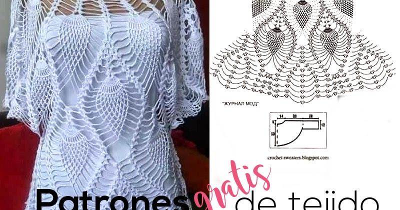 Cómo tejer la blusa blanca de piñas a crochet / tutorial | Crochet y ...