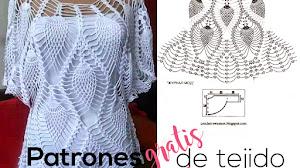 Cómo tejer la blusa blanca de piñas a crochet / tutorial