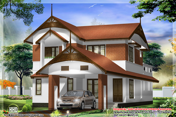 Awesome looking Kerala style home