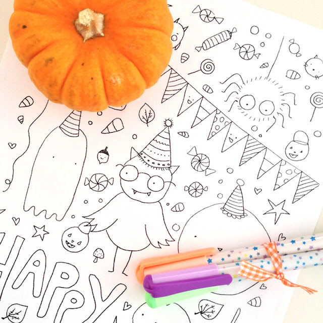 Coloring Page for Halloween | Linzer Lane Blog