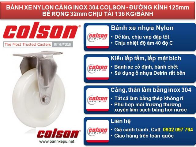 Đánh giá ưu và nhược điểm bánh xe nhựa trắng Nylon càng inox 304 Colson www.banhxepu.net