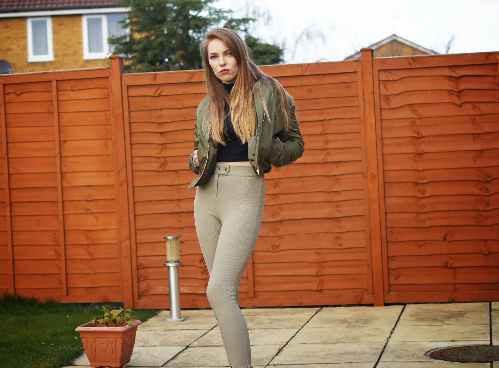 topshop bomber jacket american apparel riding pants