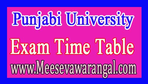 Punjabi University B.Com (Professional) Ist/ IIIrd/ Vth Sem 2016 Exam Time Table