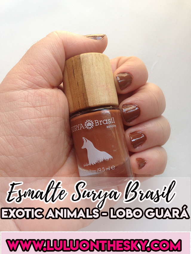 Esmalte Lobo-Guará Exotic Animals - Surya Brasil