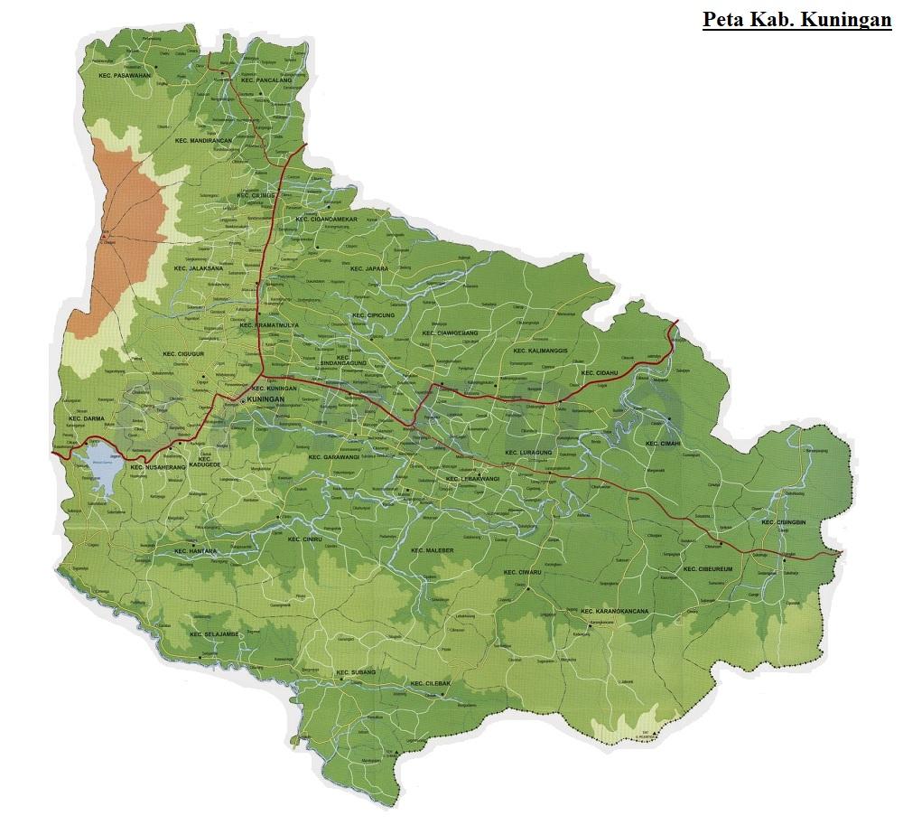 Peta Kabupaten Kuningan