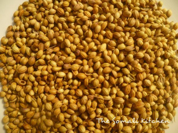 Coriander seeds (Kabsar kabsaro in somali language)
