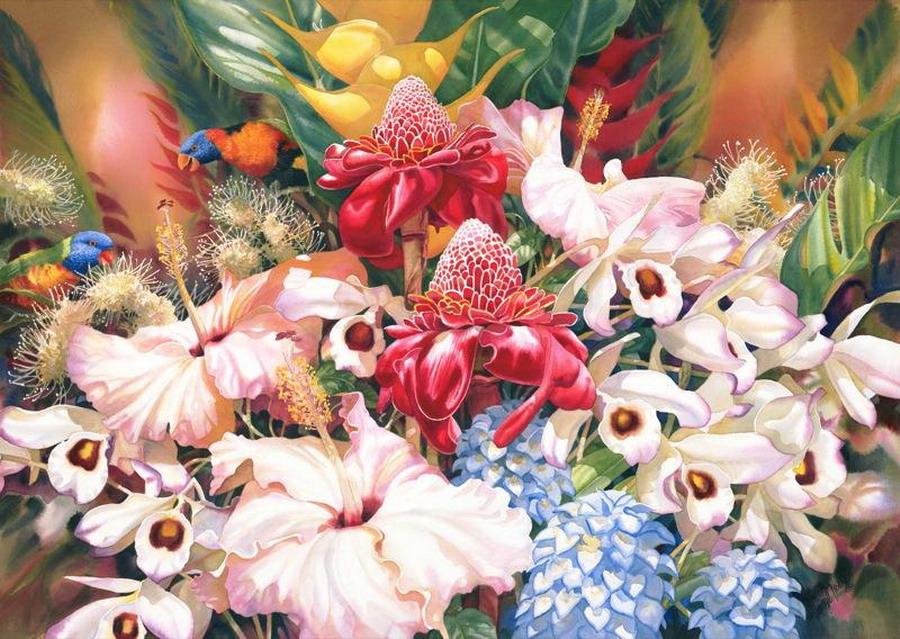 Im genes arte pinturas flores en pinturas de gran formato - Cuadros gran formato ...