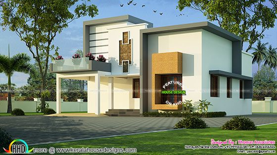 Kerala House Plan with Estimate ₹25 Lakhs