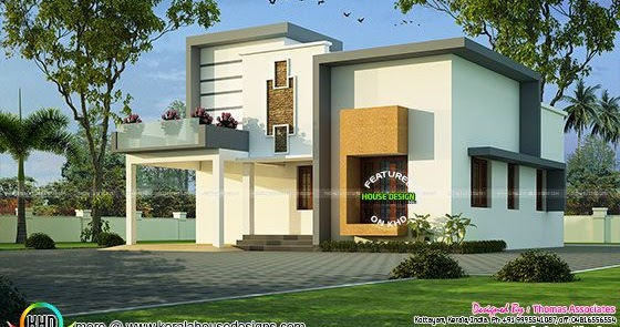 Kerala house plan with estimate 25 lakhs kerala home for House plans with estimated cost to build in kerala