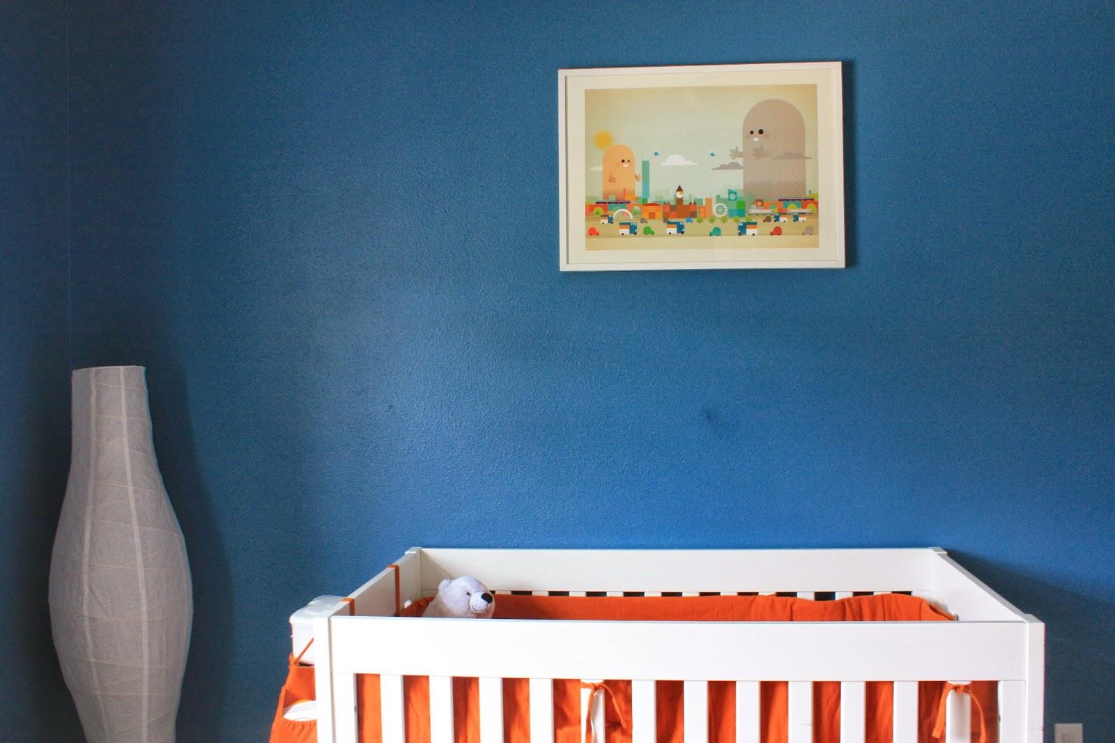 Urban Blue, Orange, In Addition To White Nursery