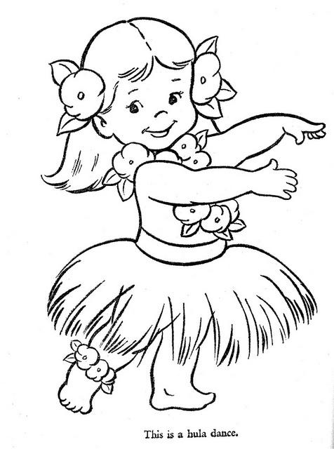 Hula Girl Coloring Page - Democraciaejustica