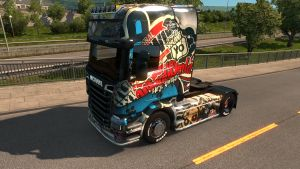 Comics skin for Scania Streamline SCS