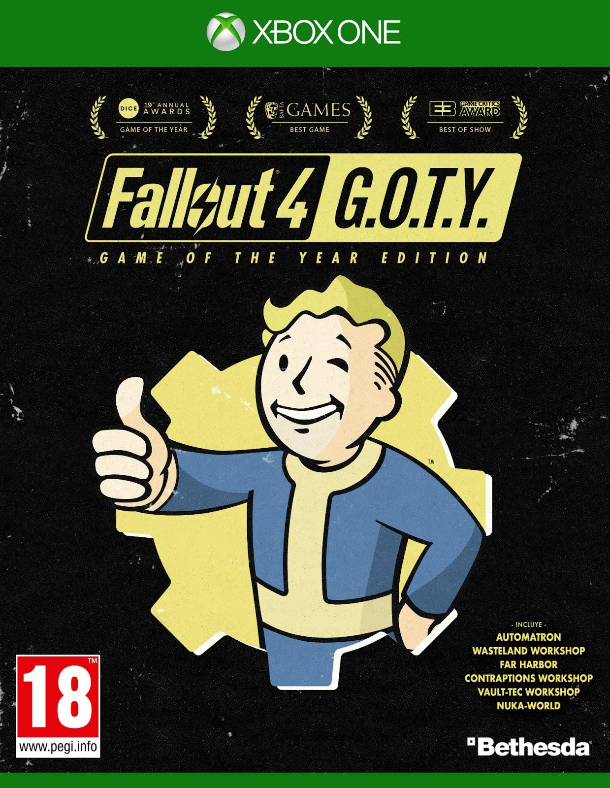 Se anuncia edición GOTY de Fallout 4 para el 26 de septiembre