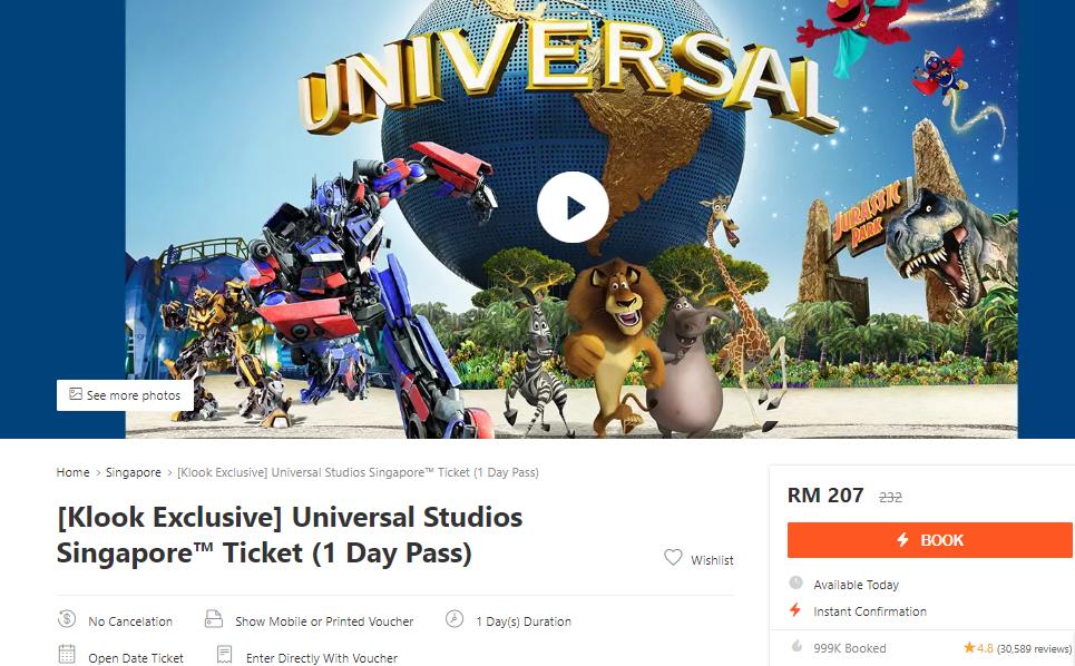 Website Jual Tiket Masuk Universal Studio Singapore Paling