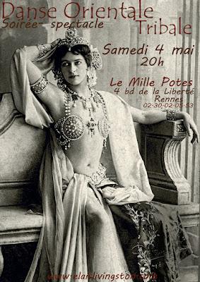 Danse, tribale, Rennes, tribal, ATS, Fusion, Mille Potes, Spectacle, soirée, Elaïs Livingston, cours,
