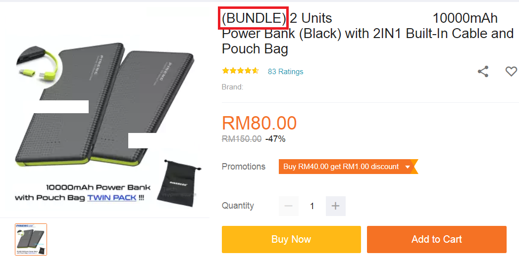 Lazada product bundle promotions