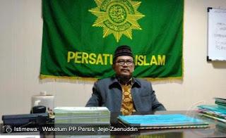 Wakil Ketua Umum Pimpinan Pusat (PP) Persatuan Islam (Persis) Dr. Jeje Zaenudin menyikapi dengan santai dan bijak keputusan DPP PBB mendukungan pasangan no 01 di Pilpres 2019 .