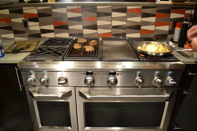 Cooking on the GE Monogram Dual Fuel Professional Range at the