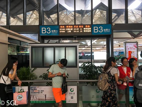 Estación de tren de Suzhou a Shanghai