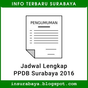 Jadwal PPDB Surabaya 2016