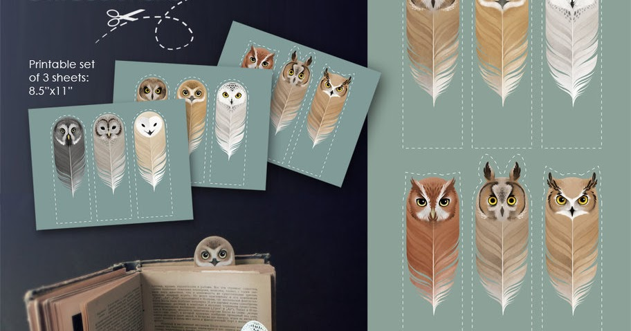 Funky Fabrix: Free Owl Bookmark Printables