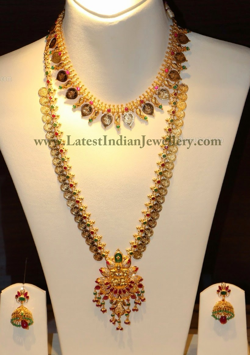 Kasu Mala Necklace Haram Set