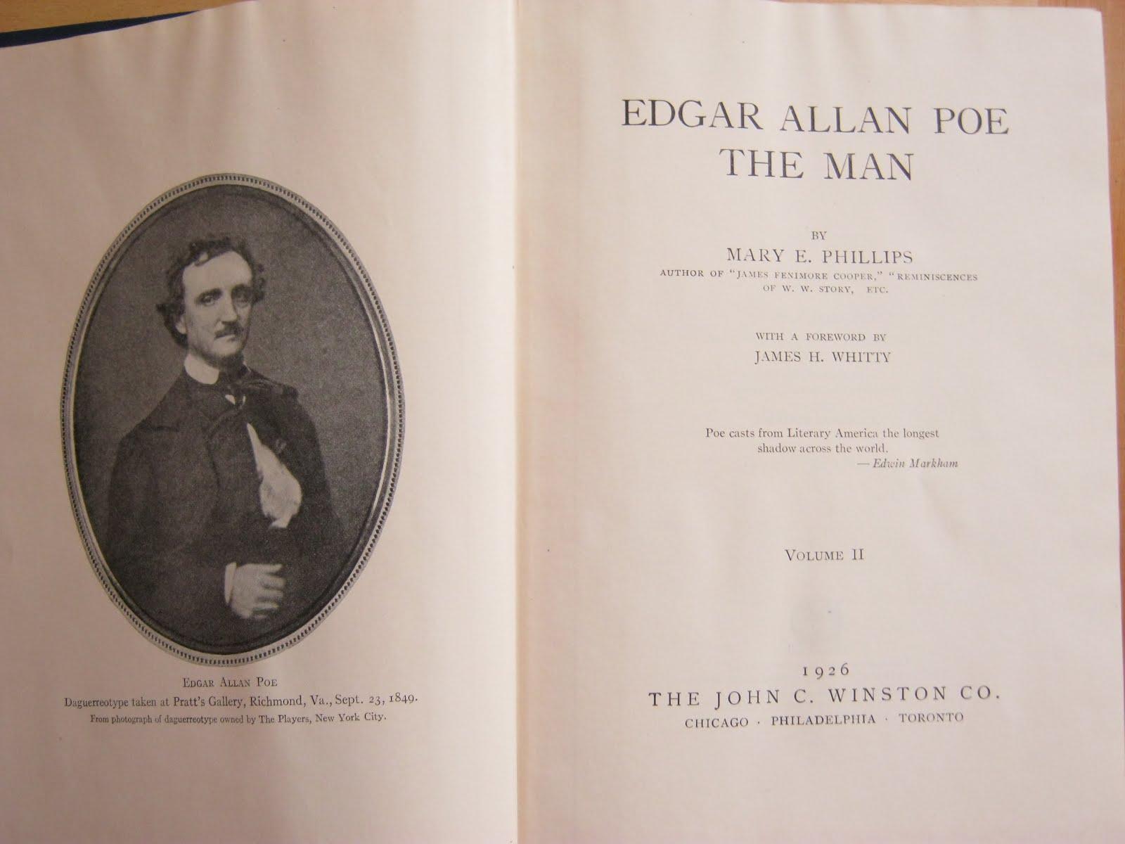 the world of edgar allan poe rating poe biography the good the  mary e phillips edgar allan poe the man