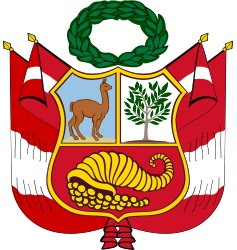 Dibujo del Escudo Nacional del Perú a color