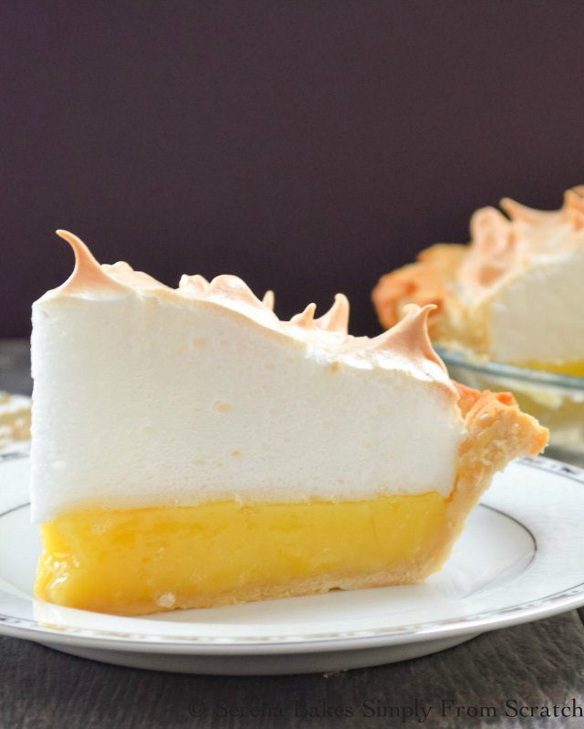 Lemon Meringue Pie from scratch with an easy to make weep from meringue recipe is perfect for dessert from Serena Bakes Simply From Scratch.